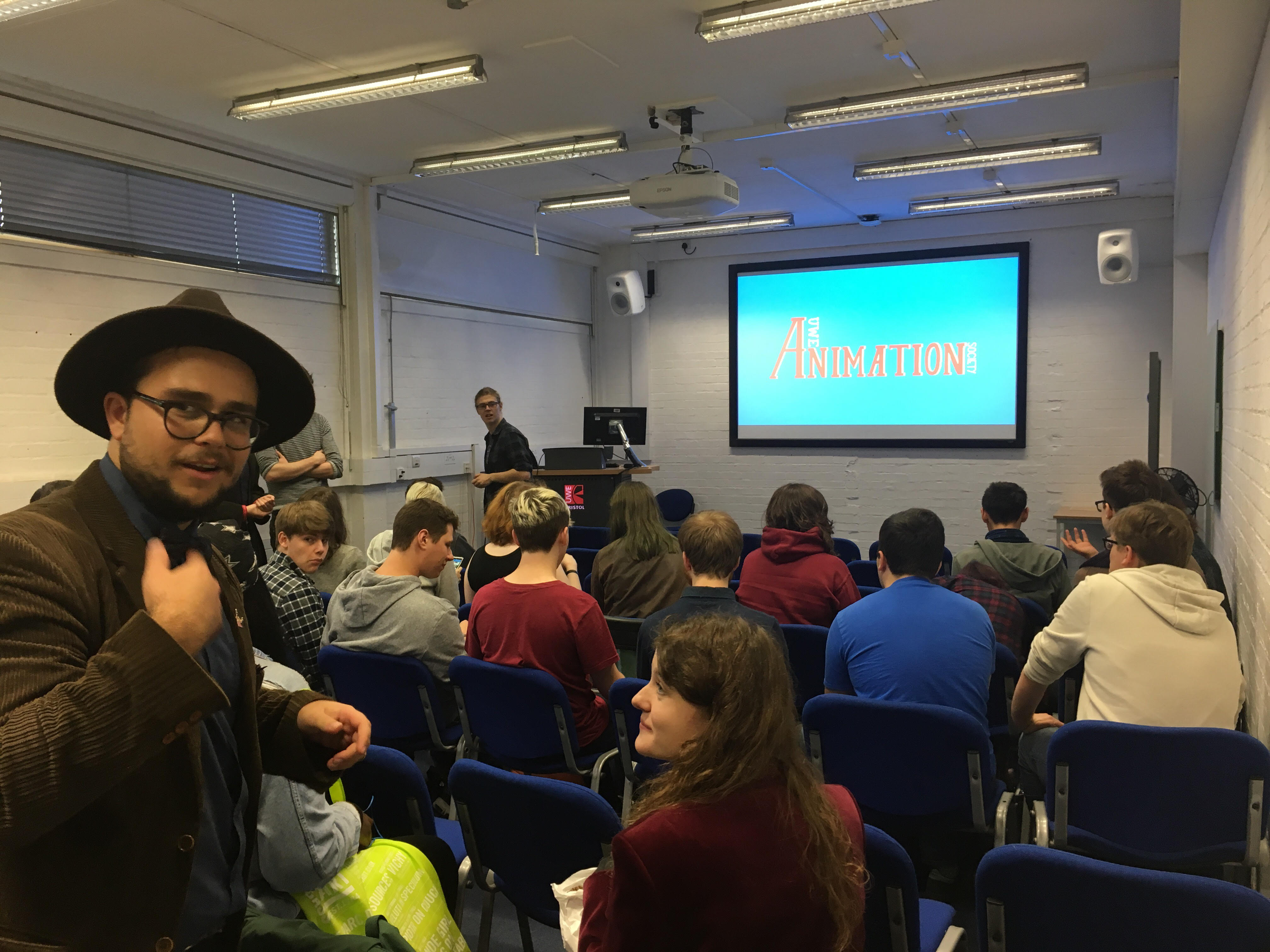 Animation Society Welcome First Years Film Night, with popcorn machine! September, 2017