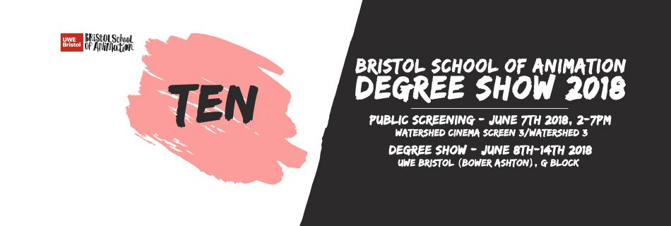 You are Invited to UWE Bristol School of Animation Degree Show 2018!